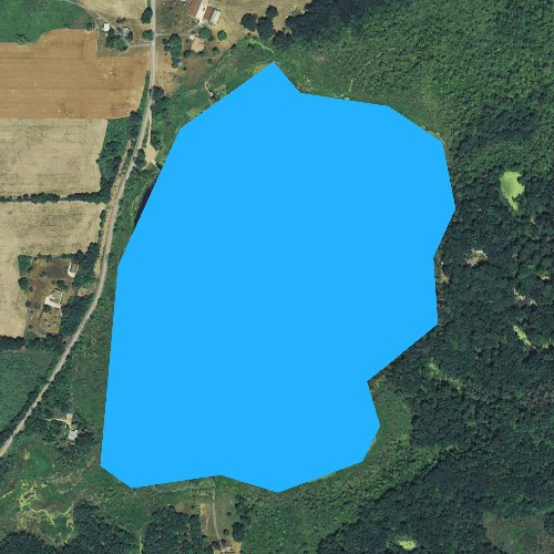 Fly fishing map for Ackley Lake, Michigan