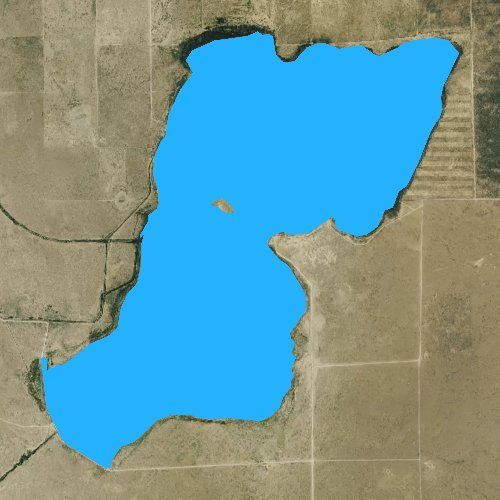 Fly fishing map for Adobe Creek Reservoir, Colorado