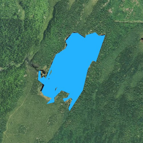 Fly fishing map for Agassa Lake, Minnesota