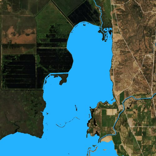 Fly fishing map for Agency Lake, Oregon