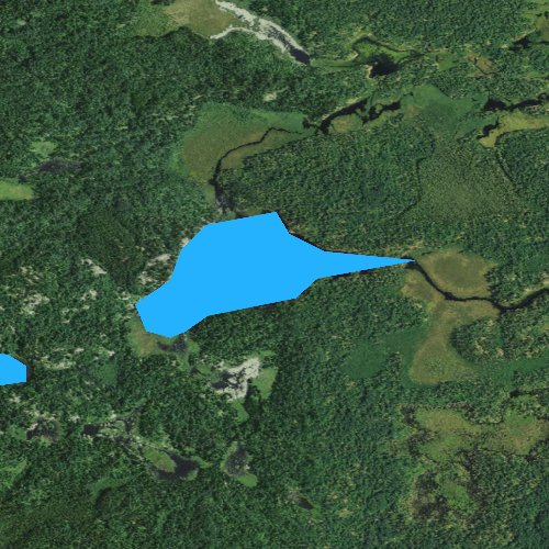Fly fishing map for Agnes Lake, Minnesota