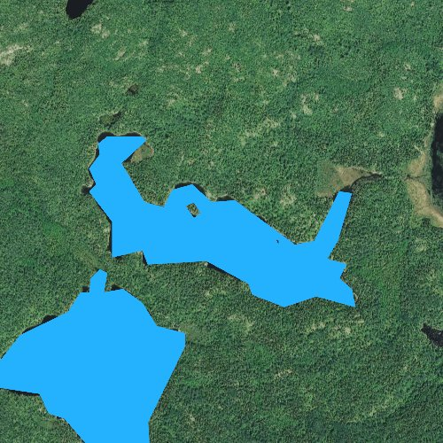 Fly fishing map for Ahsub Lake, Minnesota