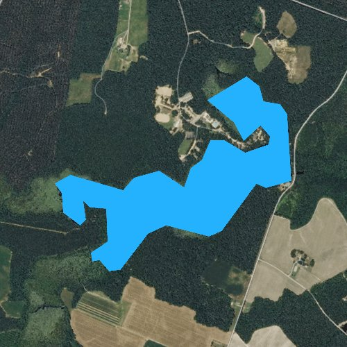 Fly fishing map for Airfield Pond, Virginia