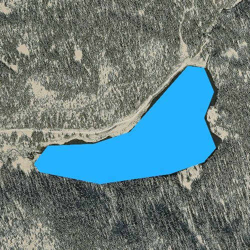 Fly fishing map for Alberta Park Reservoir, Colorado