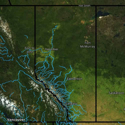 Fly fishing report and map for Alberta.