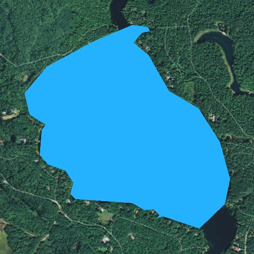 Fly fishing map for Alder Lake, Wisconsin