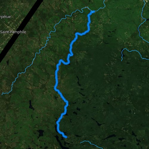 Fly fishing map for Allagash River, Maine