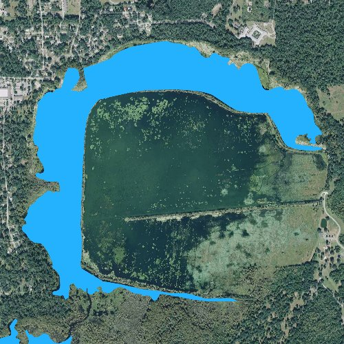Fly fishing map for Alligator Lake: North, Florida