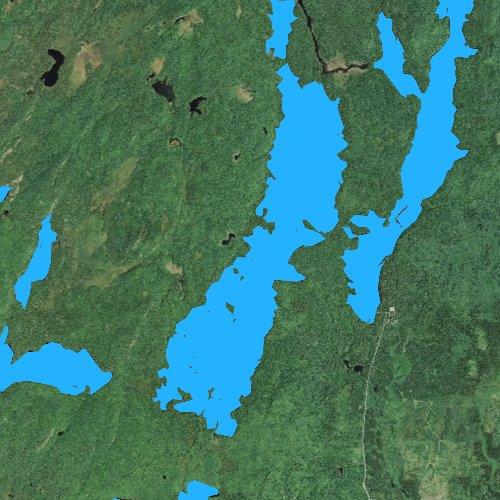Fly fishing map for Alton Lake, Minnesota