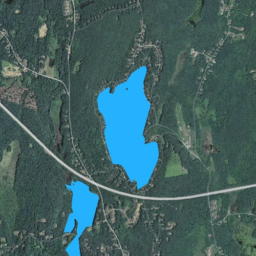 Fly fishing map for Alum Pond, Massachusetts