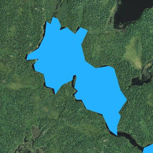 Fly fishing map for Amber Lake, Minnesota