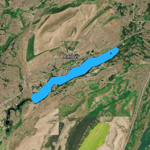 Fly fishing map for Amber Lake, Washington