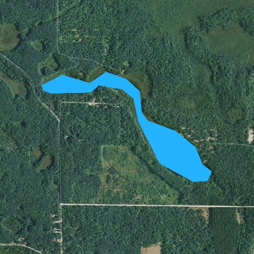 Fly fishing map for Ambrose Lake, Michigan