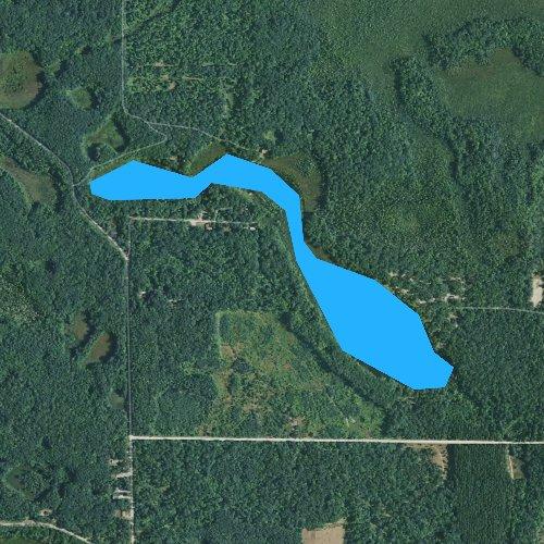 Fly fishing map for Ambrose Lake, Michigan