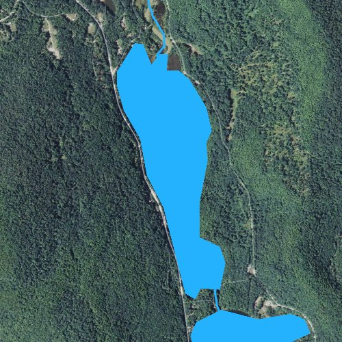 Fly fishing map for Amherst Lake, Vermont