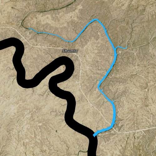 Fly fishing map for Amistad Reservoir, Texas