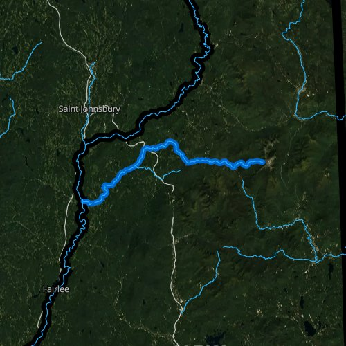Fly fishing map for Ammonoosuc River, New Hampshire