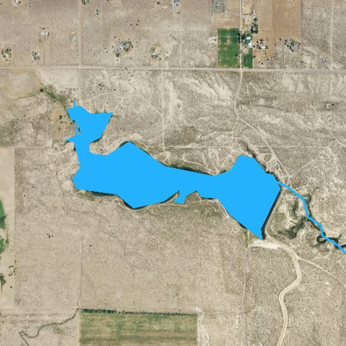Fly fishing map for Ana Reservoir, Oregon