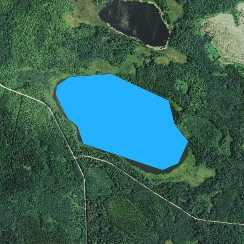 Fly fishing map for Anderson Lake, Minnesota