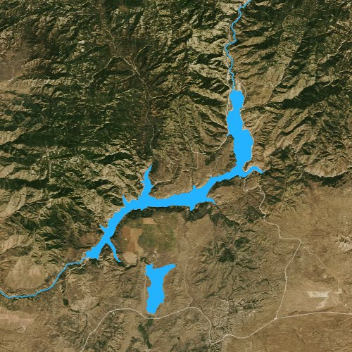 Fly fishing map for Anderson Ranch Reservoir, Idaho