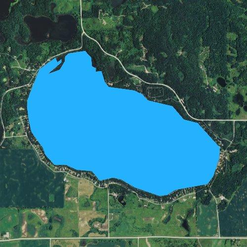 Fly fishing map for Andrew Lake, Minnesota