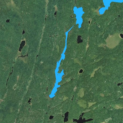 Fly fishing map for Angleworm Lake, Minnesota