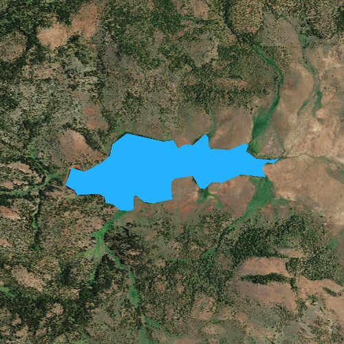 Fly fishing map for Antelope Flat Reservoir, Oregon