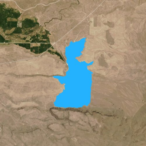 Fly fishing map for Antelope Reservoir, Oregon