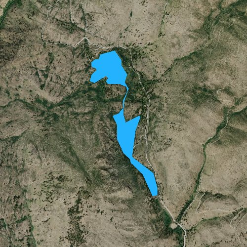 Fly fishing map for Antilon Lake, Washington