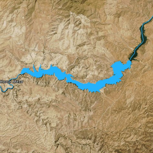 Fly fishing map for Apache Lake, Arizona