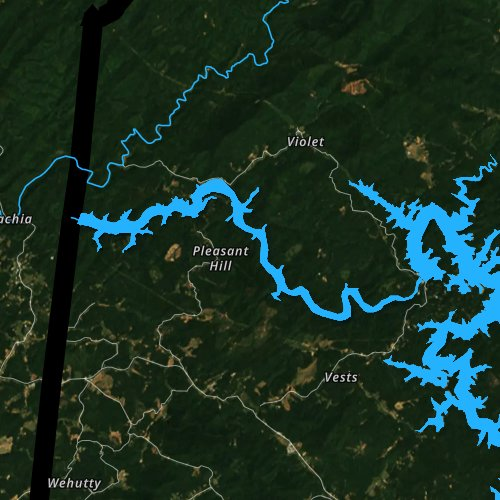 Fly fishing map for Apalachia Lake, North Carolina