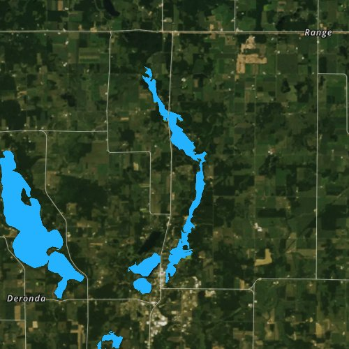 Fly fishing map for Apple River Flowage 134, Wisconsin