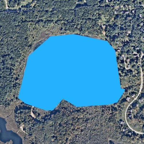 Fly fishing map for Appleton Lake, Michigan