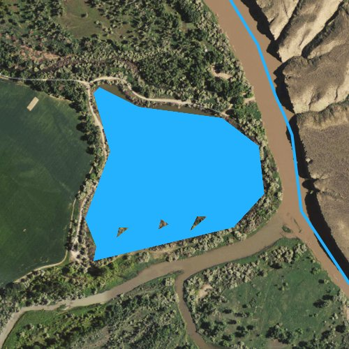 Fly fishing map for Arapooish Pond, Montana