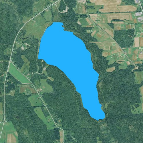 Fly fishing map for Arnold Brook Lake, Maine