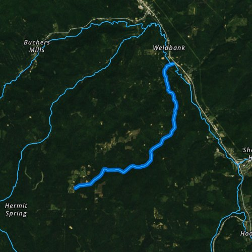 Fly fishing map for Arnot Run, Pennsylvania