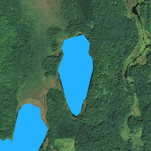 Fly fishing map for Arrowhead Lake, Minnesota