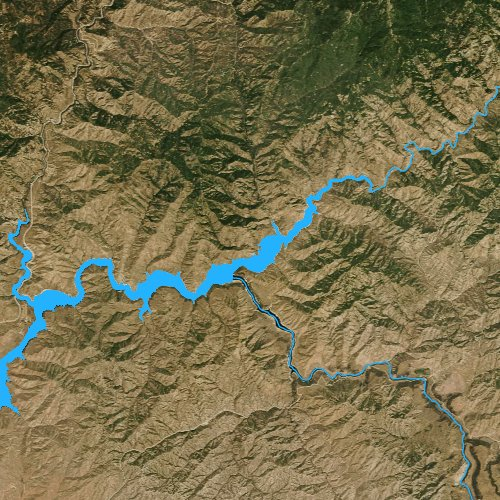 Fly fishing map for Arrowrock Reservoir, Idaho