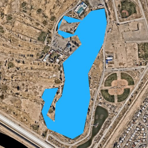Fly fishing map for Ascarate Lake, Texas