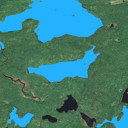 Fly fishing map for Ashigan Lake, Minnesota