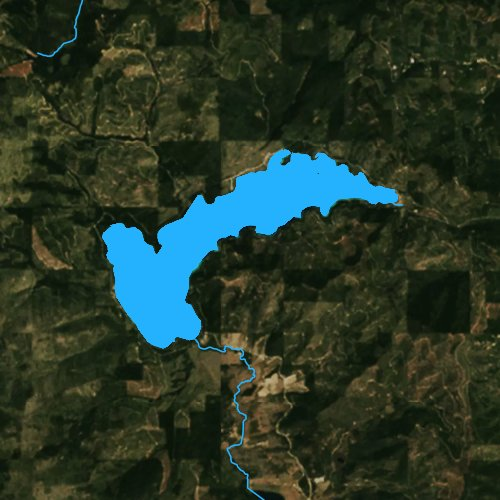 Fly fishing map for Ashley Lake, Montana