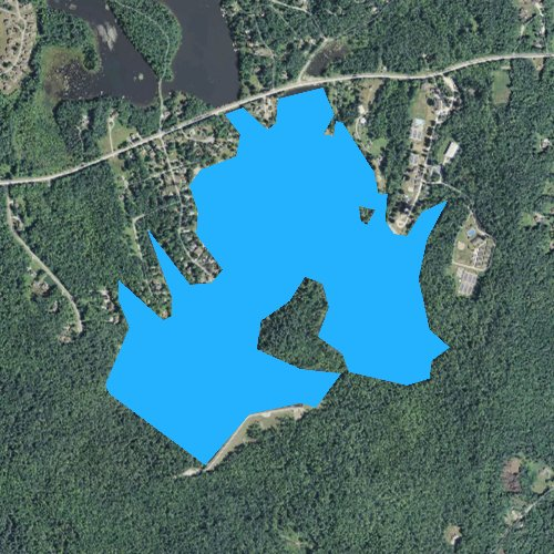 Fly fishing map for Ashmere Lake, Massachusetts