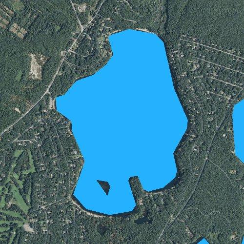 Fly fishing map for Ashumet Pond, Massachusetts