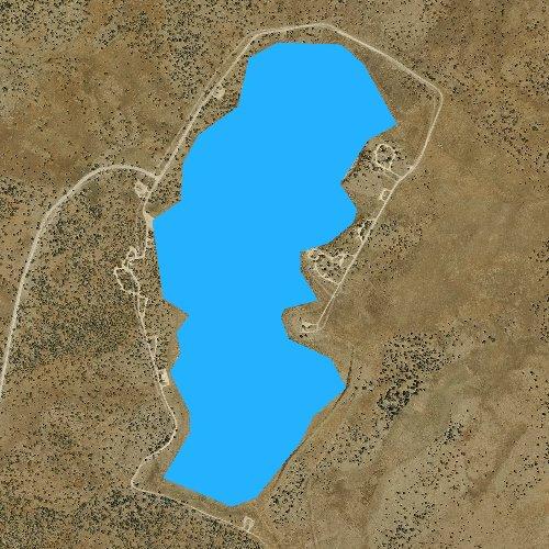 Fly fishing map for Ashurst Lake, Arizona