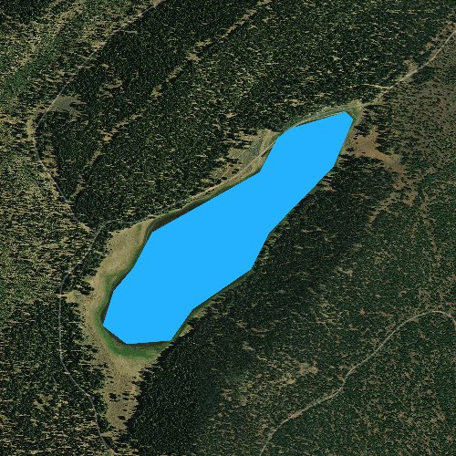 Fly fishing map for Ashurst Lake, California