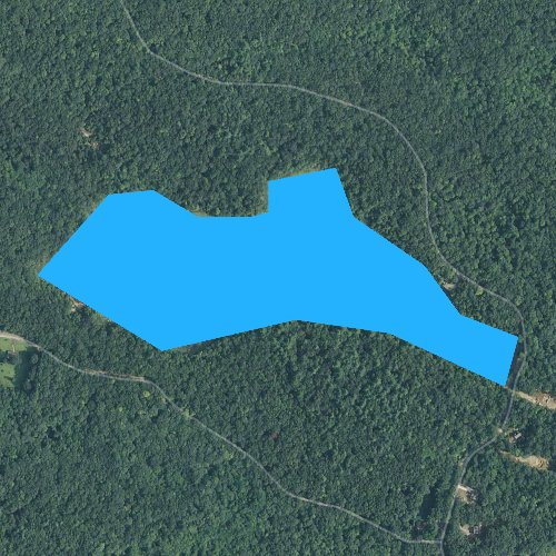 Fly fishing map for Ashville Pond, Rhode Island