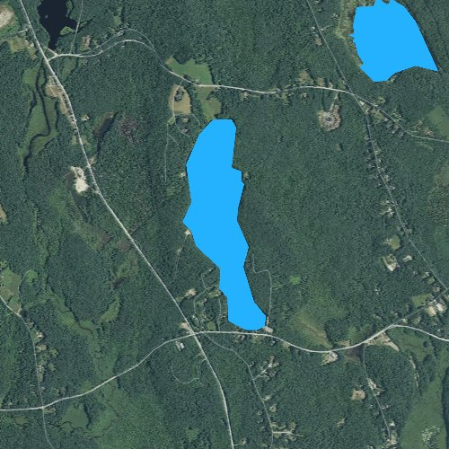 Fly fishing map for Asnacomet Pond, Massachusetts