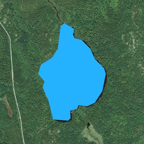 Fly fishing map for Astrid Lake, Minnesota