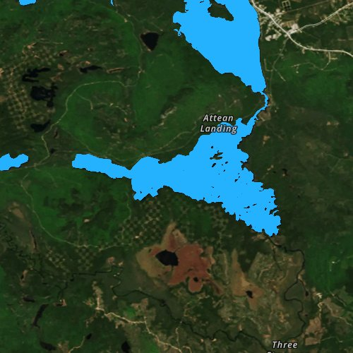 Fly fishing map for Attean Pond, Maine