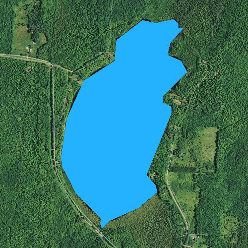 Fly fishing map for Augustine Lake, Wisconsin